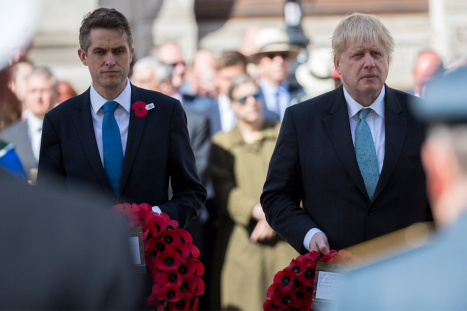 The Defence Secretary and Foreign Secretary lay wreaths