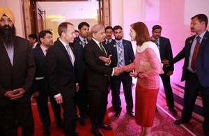 Special Envoy for Gender Equality Joanna Roper, British High Commissioner Thomas Drew with the Chief Minister Punjab Shahbaz Shareef