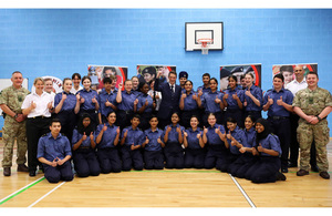 Defence Secretary Gavin Williamson at Phoenix Collegiate School in West Bromwich