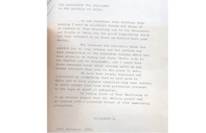 HM The Queen letter to Presiden Frei