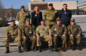 Delegation of Bosnia and Herzegovina led by UK Defence Attache LtCol Rob Tomlinson