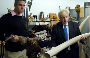 Foreign Secretary Boris Johnson with Kevin Pieterson