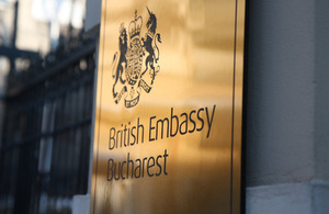 British Embassy Bucharest logo
