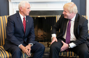 Foreign Secretary Boris Johnson and Vice President Mike Pence