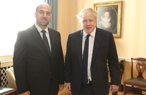 Foreign Secretary Boris Johnson and SNC Leader Nasr Hariri meet in London May 9 2018