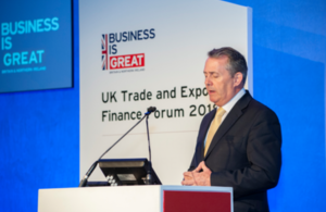 Dr Liam Fox at the UK Trade and Export Finance Forum