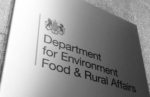 Image of the Defra sign
