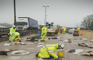 M5 Oldbury repair work