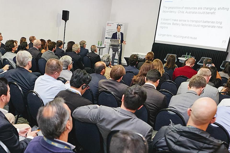 Picture of UK organised seminar at 2018 Expomin Mining Fair.