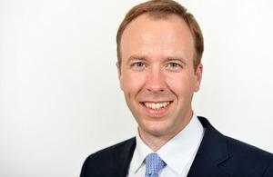 Secretary of State for Digital, Culture, Media and Sport Matt Hancock