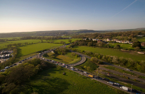 The existing A27 Crossbush junction at Arundel