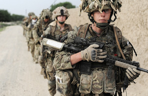 Soldiers from the 1st Battalion Welsh Guards taking part in an Afghan-led patrol [Picture: Corporal Paul Morrison, Crown copyright]