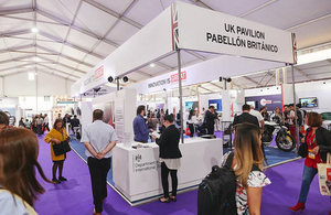 Picture of UK exhibition stand at Expomin 2018.
