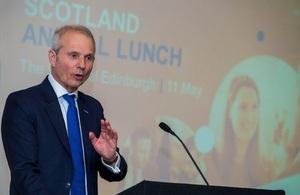 The Chancellor of the Duchy of Lancaster David Lidington MP addresses CBI Scotland.