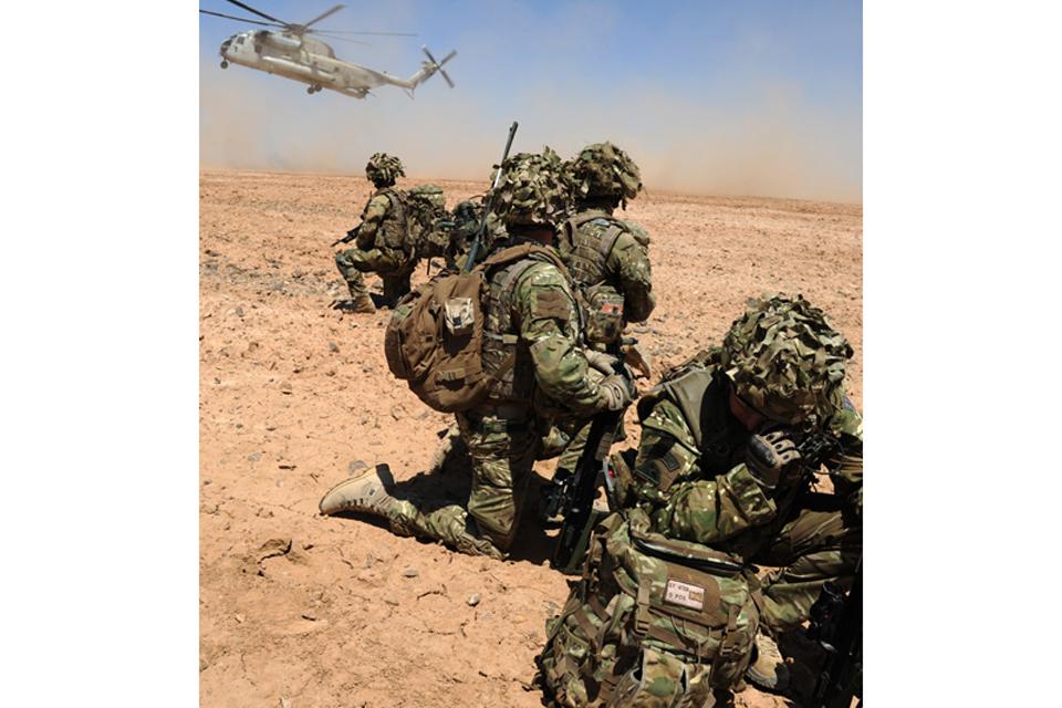 Royal Air Force gunners in Afghanistan