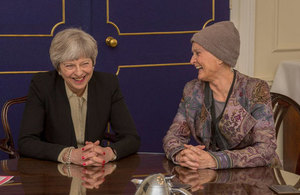 Theresa May and Tessa Jowell