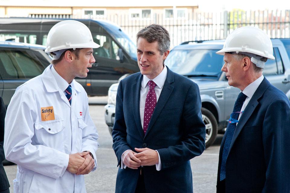 Defence Secretary Gavin Williamson visits BAE Systems, Barrow-in-Furness. Crown Copyright