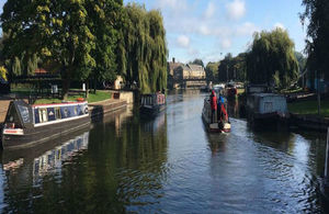 Boaters on the Anglian Waterways