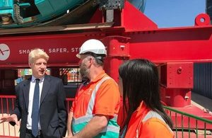 Minister for London at Thames Tideway Tunnel.