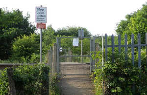 Image showing Trenos footpath crossing