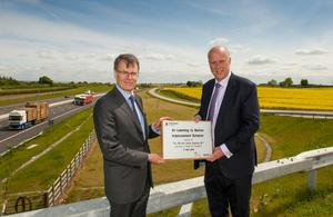 Chris Grayling and Highways England Chairman Colin Matthews