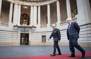 Foreign Secretary Boris Johnson and Argentine Foreign Minister Faurie