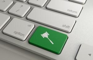 Gavel key on keyboard