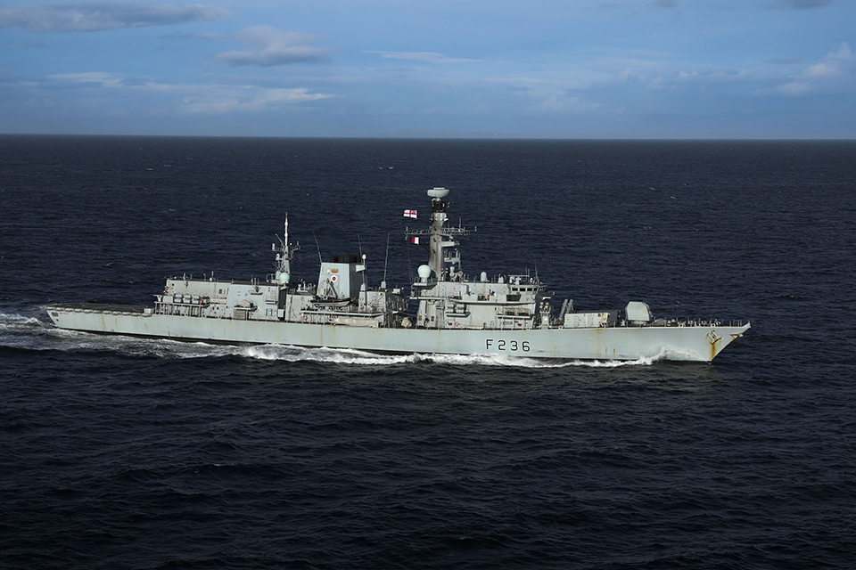 The Type 23 frigate HMS Montrose. Crown copyright.