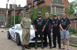 Lt Col Tim Clarke, Ash Hall, Warren McKinlay, Martyn Compton, Jon-Allan Butterworth.