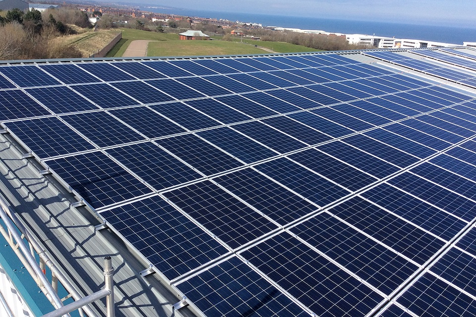 Solar panels at Dawdon mine water treatment scheme