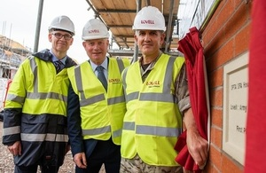 Pictured is Mark Duddy, DIO; John Leary, Lovell; Lieutenant General Nick Pope CBE, Deputy Chief of the General Staff