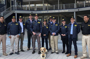 Members of the Consular Section visited the Chilean Investigations Police Headquarters during the Annual Conference of Honorary Consuls.