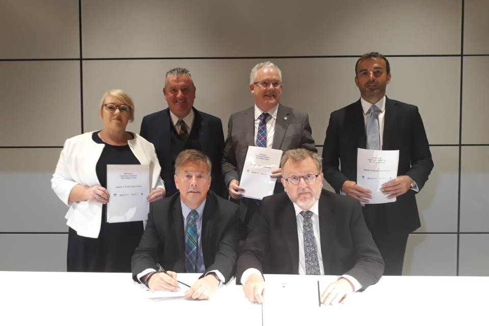 Signing of the Heads of terms for the City Region Deal