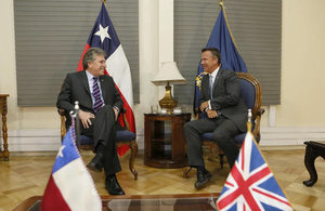 UK Minister for the Armed Forces, Mark Lancaster, made a protocol call on Chilean Minister of Defence, Mr. Alberto Espina.
