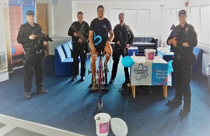 Officers take part int he challenge to raise money during Dementia Action week