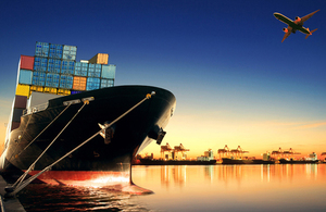 UK Export Finance - shipping containers