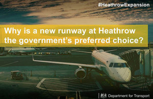 Why is a new runway at Heathrow the government's preferred choice?