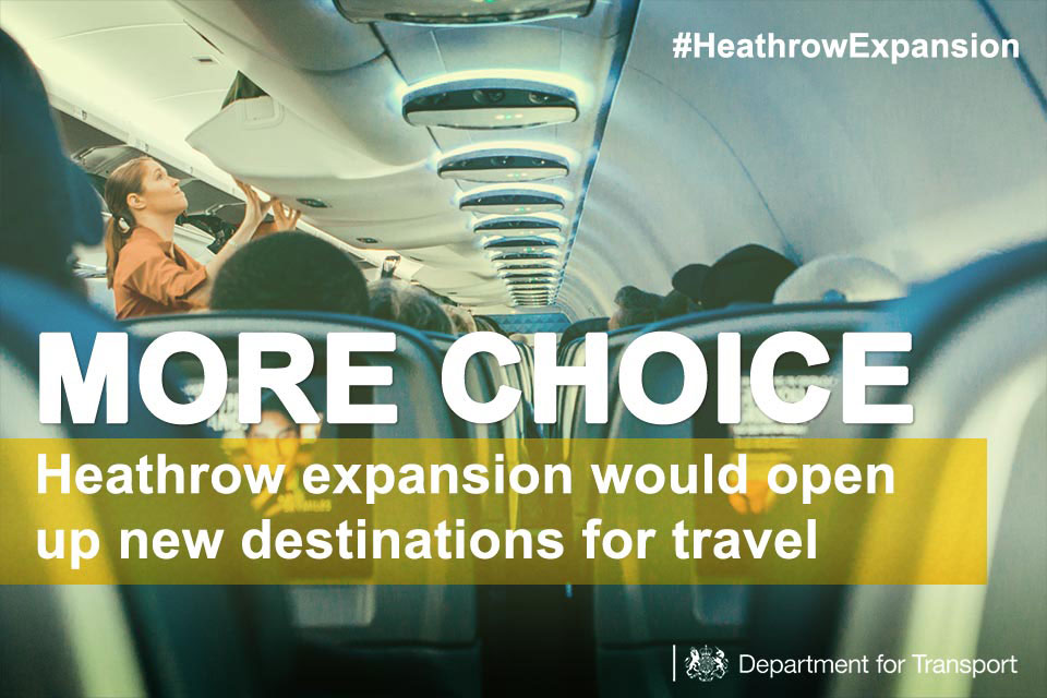 More choice: Heathrow expansion would open up new destinations for travel.
