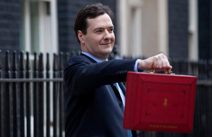 Chancellor George Osborne ahead of the 2013 Budget.