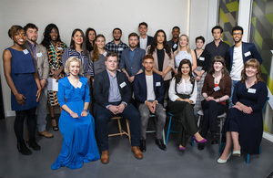 Group shot of the winners of Innovate UK's Ideas Mean Business award.