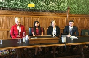4 of the 5 apprentices attending the Apprentice Futures event: Katherine Twenlow, Michelle Blackwell, Jemma Gillman and Dexter Hutchings.