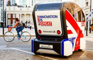RDM Group's autonomous vehicle, the Pod Zero