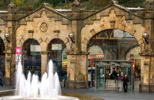 Sheffield railway station.