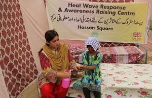 One of the life-saving heat stroke relief camps in Karachi