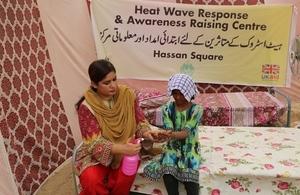 Pakistan heat wave treatment centre