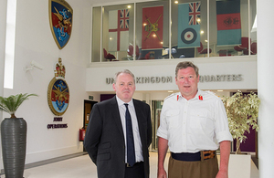 General Sir Chris Deverell and Gutto Bebb MP at Joint Forces Command
