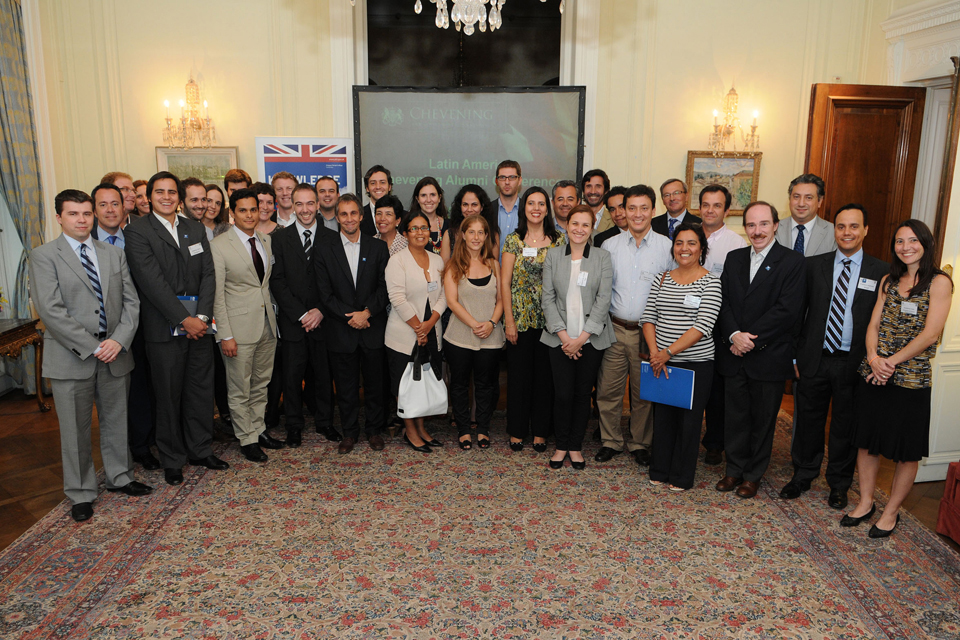 Chevening alumni from 10 countries (Argentina, Bolivia, Brazil, Chile, Colombia, Mexico, Paraguay, Peru, Uruguay and Venezuela)