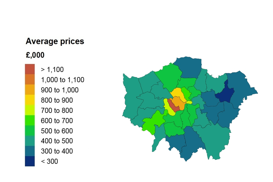 Average price by London borough