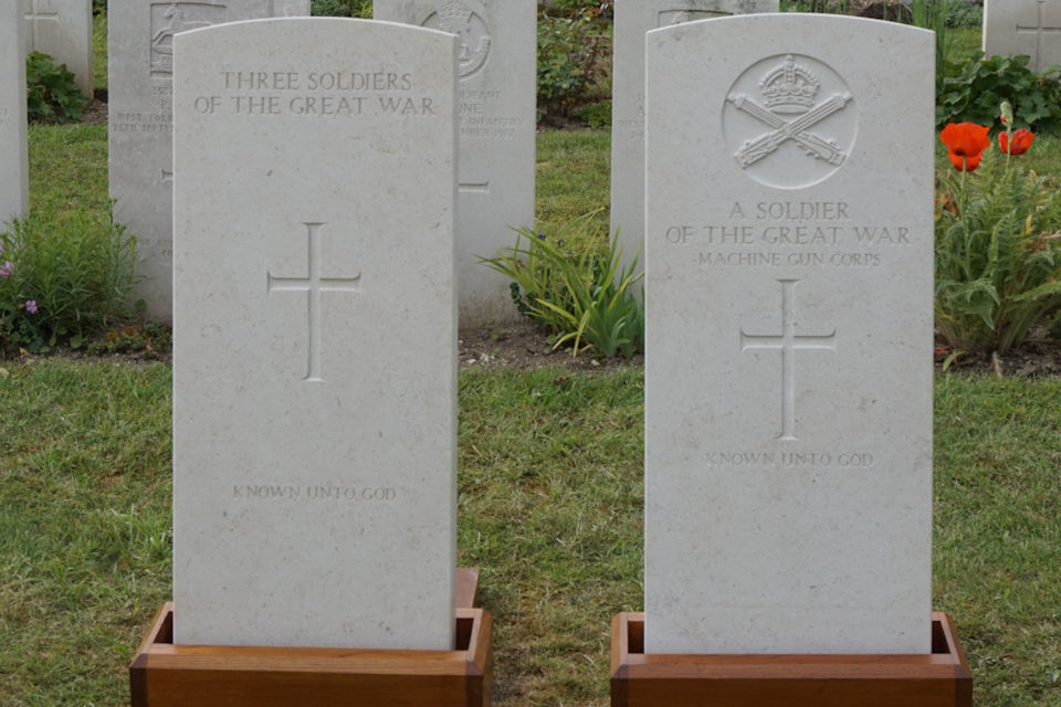 New Headstones provided by the Commonwealth War Graves Commission. Crown Copyright. All rights reserved
