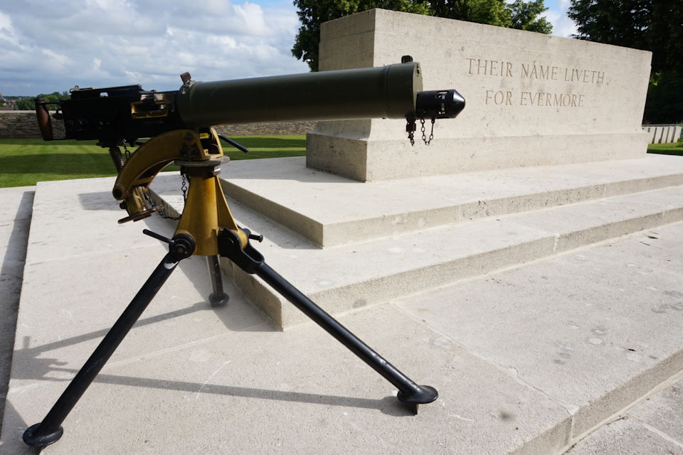 Vickers Machine Gun from WW1. Crown Copyright. All rights reserved